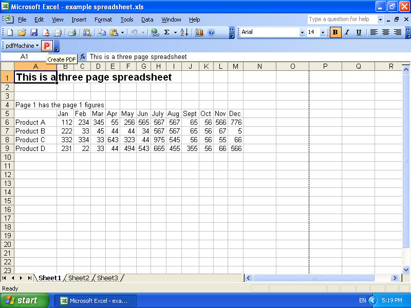 Ediblewildsus  Splendid Pdfmachine  Convert Excel To Pdf With Magnificent Next Press The Pdfmachine Button On The Toolbar This Starts The Conversion From Excel To Pdf With Astonishing Excel Formula Weekday Also Credit Card Debt Calculator Excel In Addition Ms Excel Spreadsheet And Consulting Invoice Template Excel As Well As Excel  Set Print Area Additionally Vehicle Mileage Log Excel From Broadguncom With Ediblewildsus  Magnificent Pdfmachine  Convert Excel To Pdf With Astonishing Next Press The Pdfmachine Button On The Toolbar This Starts The Conversion From Excel To Pdf And Splendid Excel Formula Weekday Also Credit Card Debt Calculator Excel In Addition Ms Excel Spreadsheet From Broadguncom